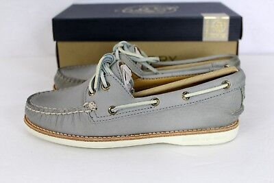 Sperry GOLD CUP A/O Light Grey Leather Women's Boat Shoe NEW NIB 6 Orig $160