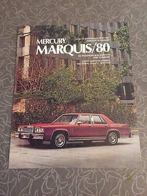1980 Mercury Grand Marquis Car Auto Dealership Advertising Brochure