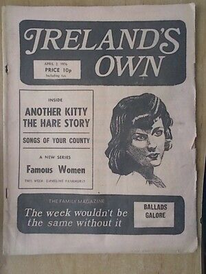 IRELAND'S OWN MAGAZINE- APRIL 2nd 1976 - EMMELINE PANKHURST - SUFFRAGETTE