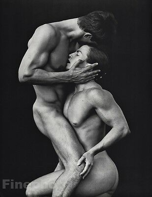 1987 Vintage MALE NUDE Men, Tony Ward & Mimi Body Photo Art Gay HERB RITTS 16x20