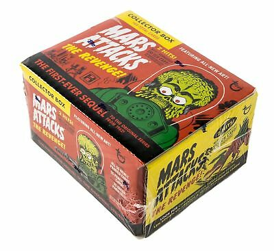 2017 TOPPS MARS ATTACK THE REVENGE 110-card SET BOX  + sketch  patch
