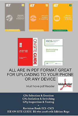 Electrical Guide Note Books 1,2,3 PDF + IEE OSG BS 7671 2008 17th Edition Regs.