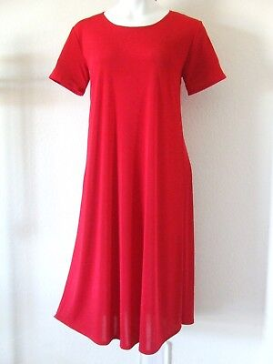 Long A-Line short sleeve,NEW stretchy no-iron poly//span #050 Travel Knit Dress
