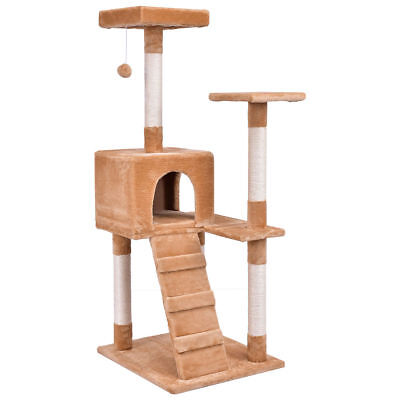 Cat Tree Tower Condo House Scratching Rope Post Kitten Pet Toy Perch Play Ladder