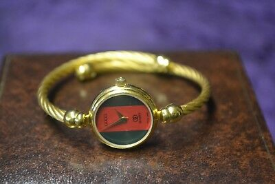 e56ccda8d4c GUCCI 2047L 18K Gold Plated Bangle Womens Wrist Watch -  99.99 ...