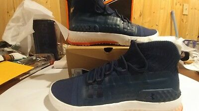 998bacfae66f Under Armour UA PROJECT ROCK 1 Navy Blue Training Shoes Men 3020788-401 On  Hand