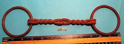 Antique late 1800's Twisted Wire Iron HORSE RIDING BIT  #6 Very HEAVY