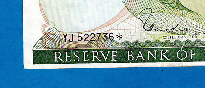 "EX RARE REPLACEMENT ""STAR NOTE YJ"" New Zealand P167dr 20 Dollars QEII Hardie"