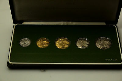 1977 National Coinage of Ethiopia Five Proof Coin Set in Box (NUM3560)