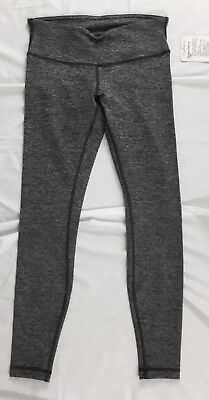 757aed2566 Lululemon Women Wunder Under High Rise 7/8 Tight HBLK Heather Black LUON  Size 8
