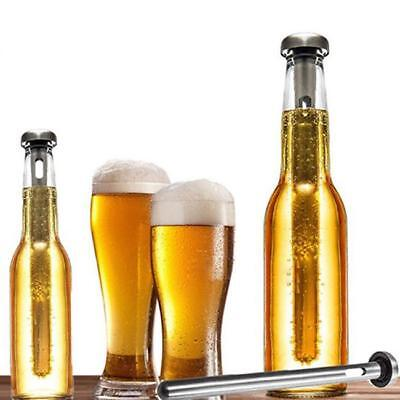 Beer Chill Stick Coolin Chiller Cooler Rod In Bottle Pourer Stainless 2PC JAZZ
