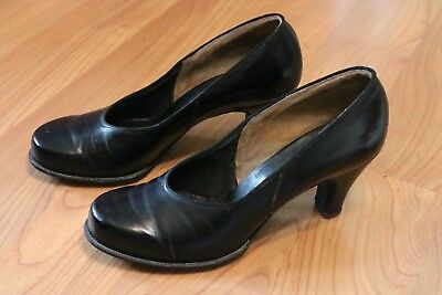 1940's/WWII Black Pumps - Women's Private Purchase WAVES/Navy Nurse Style
