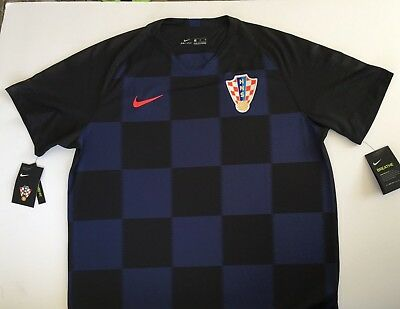 new product 0fd30 571b0 CROATIA WORLD CUP Jersey - 2018 Nike Authentic Away Black Blue w Tags BRAND  NEW