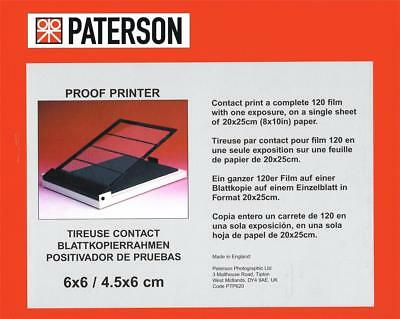 Paterson Pro Photographic Proof Printer 6x6 / 4.5x6cm : For All Films : PTP620