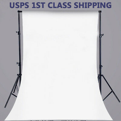 US Vinyl Photography Backdrop Studio Photo Background Screen 5x7FT Solid White