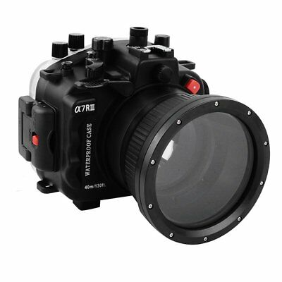 Seafrogs 40m/130ft Waterproof Diving Housing Case For Sony A7III A7RIII Camera