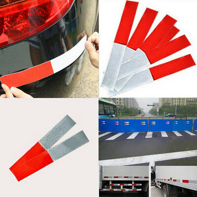 5/10/20Pc Car Truck Auto Safety Warning Reflective Film Tape Strip Sticker Decal