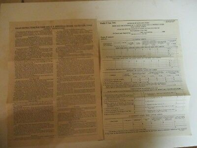 Internal Revenue Service Vintage W 2 Forms 1947 1955 1189