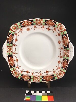 Roslyn China Square Cake Plate Porcelain Fine Bone China Imari 1920s