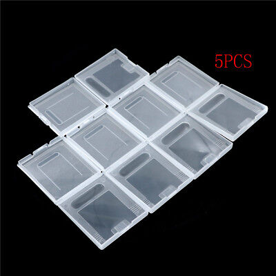5Pxs Clear Plastic Game Cartridge Case Dust Cover for Game Boy GB GBC GBP NEW