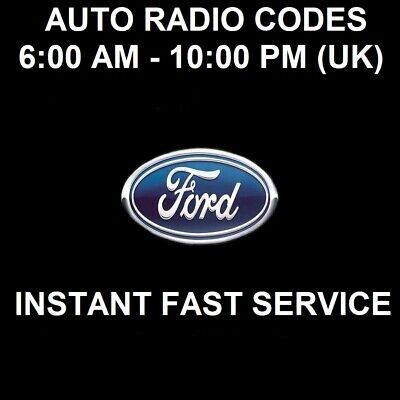 Ford V Serial Radio Car Unlock Code | Galaxy | Mondeo | Fiesta | Transit | Focus