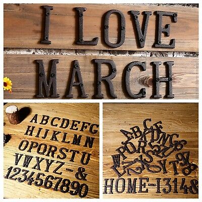 1pcs Antique Metal Letter Number House Sign DIY Restaurant Cafe Wall Home Decor
