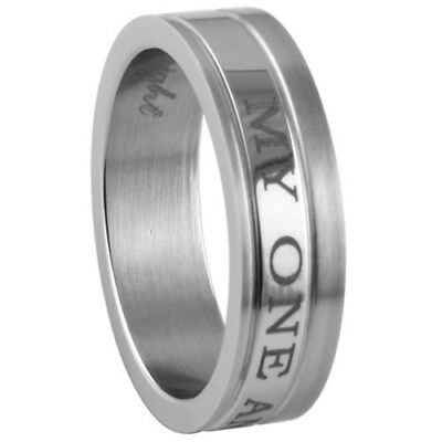 "New Stainless Steel ""My One And Only"" Friendship or Wedding Ring"