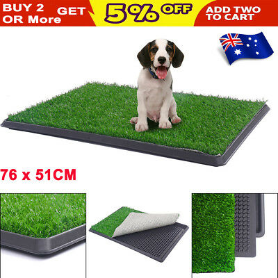 Pet Potty Trainer Grass Mat Toilet Dog Puppy Training Pee Patch Pad Tray Indoor
