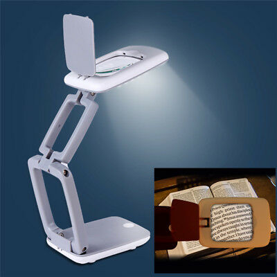 Magnifying Crafts Glass Desk Lamp With 3X Magnifier With LED Lights Large Lens
