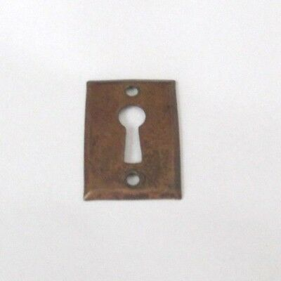 Antique Victorian Convex Brass Keyhole Cover