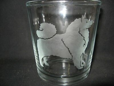 New Etched Keeshond Old-Fashioned Rocks Glass Tumbler