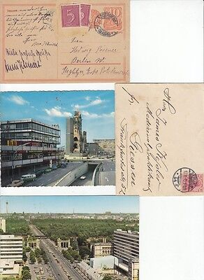 LOT OF 3 VINTAGE POSTCARDS. Berlin. 1922,1954,1970.
