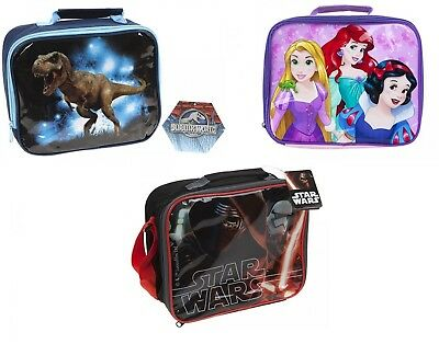 Jurassic World Dinosaur  STAR WARS Princess School Lunch Pack Box Bag Boys Girls