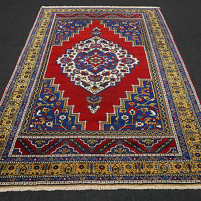 Türkischer Orient Teppich 291 x 191 cm Alter Taspinar Old Turkish Carpet Rug