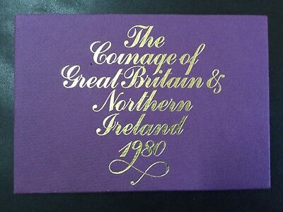1980 Great Britain & Northern Ireland Decimal Proof Coins Set!