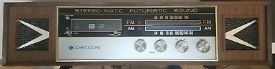 Vintage Commodore Stereo-Matic 4 Speakers AM FM AFC Table Radio and Clock