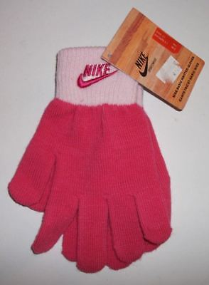 Nike Kids Junior Basic Knitted Gloves Woolly Sports Gloves Pink