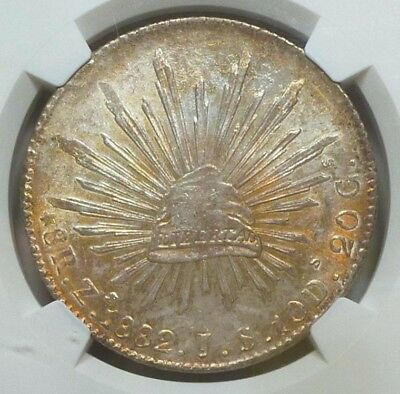 Mexico 8 Reales 1882 Zs-JS MS 64 NGC
