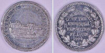 1904 Token Medal St Louis Worlds Fair Louisiana Purchase Exposition H-61-640 Usa