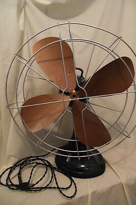 "Vintage Hunter  Electric Oscillating Fan #262 TYPE CG16 Restored 16"" 1940's"