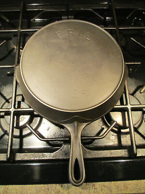 Vintage Griswold ERIE #8 Cast Iron Skillet with Anchor Makers Mark Restored!