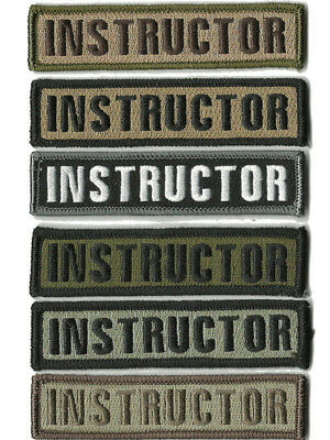 BuckUp Tactical Morale Patch Hook Instructor Morale Patches 3.75x1""