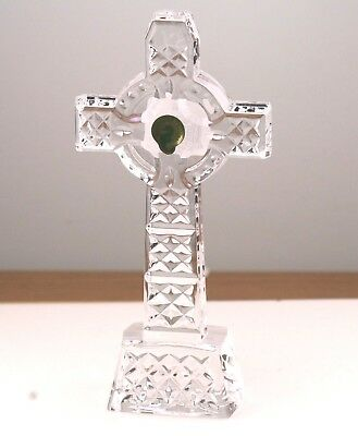 """Waterford Crystal Large 8"""" Celtic Cross With Box & Papers WC13"""