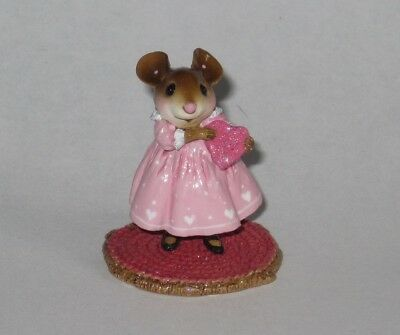Wee Forest Folk M-499a LITTLE SWEETHEART GIRL Valentine mouse