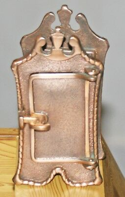 Vintage Brass Peep Hole Door Speakeasy Speak Easy 1883 Weiser Locks Window Rare