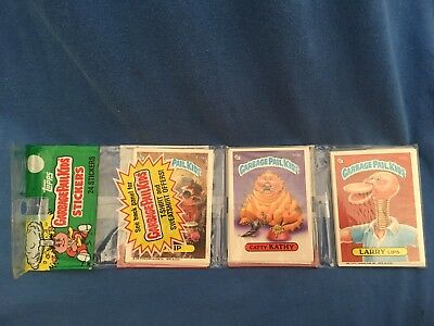 Vintage 1986 GARBAGE PAIL KIDS TOPPS Series 3 Rack Pack GPK 24 Cards Stickers A4