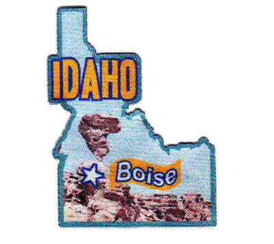 BOISE IDAHO Iron On Printed Patch Capitol City State