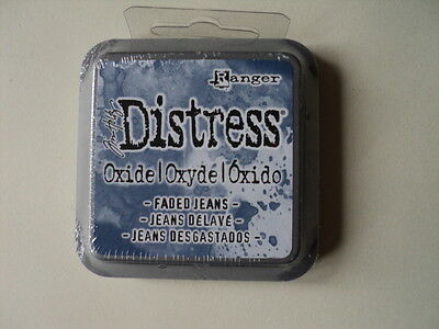 "Tim Holtz Distress Oxide Ink Pad Faded Jeans Full Size 2"" Bnip *look*"