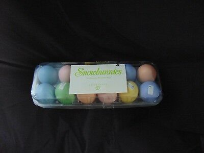 RARE Snowbunnies Porcelain Eggs - pastel shades - in Egg Carton - NEW Old Stock