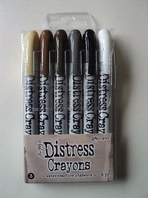 Tim Holtz Distress Crayons Set #3 Pack Of 6 Bnip  *look*